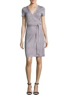 Diane von Furstenberg New Julian Two Silk Short-Sleeve Wrap Dress