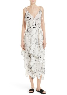Diane von Furstenberg New Scarf Hem Silk Midi Dress
