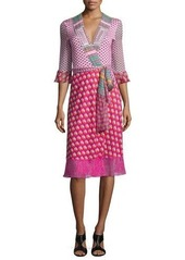Diane von Furstenberg Nieves Zen Scarf Wrap Dress