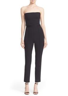 Diane von Furstenberg Olivi Strapless Stretch Wool Jumpsuit