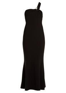 Diane Von Furstenberg One-shoulder asymmetric crepe gown