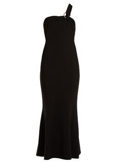 Diane Von Furstenberg One-shoulder asymmetric crepe gown