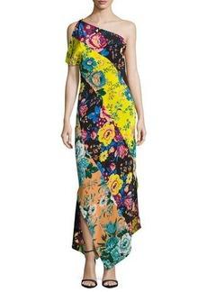 Diane von Furstenberg One-Shoulder Asymmetric Hem Dress