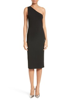 Diane von Furstenberg One-Shoulder Knit Midi Dress