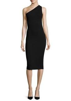 Diane von Furstenberg One-Shoulder Knit Midi Dress