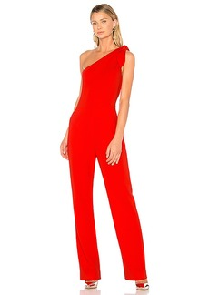 Diane von Furstenberg One Shoulder Knot Jumpsuit