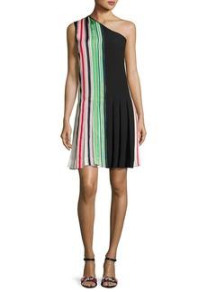 Diane von Furstenberg One-Shoulder Pleated Ribbon Dress