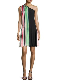 Diane von Furstenberg One-Shoulder Pleated Ribbon Dress