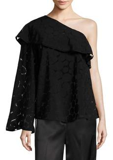 Diane Von Furstenberg One-Shoulder Ruffle Top