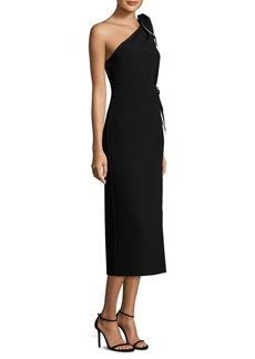 One-Shoulder Scarf Dress