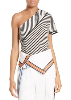 Diane von Furstenberg One-Shoulder Silk Top
