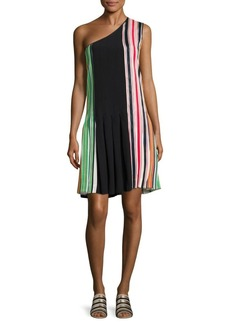 Diane Von Furstenberg One Shoulder Striped Dress