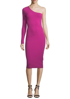 Diane von Furstenberg One-Sleeve Body-con Knit Cocktail Dress