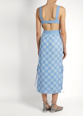 Diane Von Furstenberg Open-back crepe midi dress