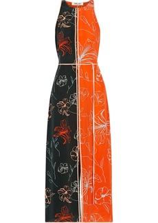 Diane Von Furstenberg Open-back printed silk crepe de chine midi dress