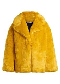 Diane Von Furstenberg Oversized faux-fur jacket