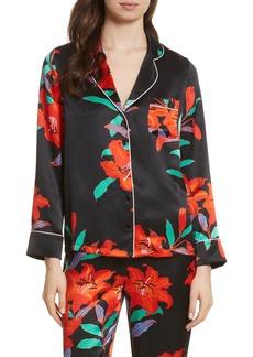 Diane von Furstenberg Pajama Silk Shirt