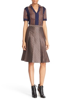 Diane von Furstenberg 'Paley' Mixed Media Top