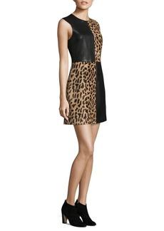 Diane von Furstenberg Paneled Mini Dress