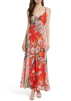 Diane von Furstenberg Paneled Silk Maxi Dress