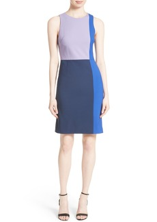 Diane von Furstenberg Paneled Stretch Wool Sheath Dress