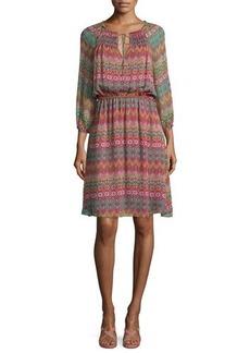 Diane von Furstenberg Parry Printed Silk Blouson Dress