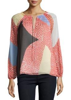 Diane von Furstenberg Parry Starfish Placement Silk Top