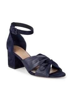 Diane Von Furstenberg Pasadena Leather & Suede Block Heel Sandals