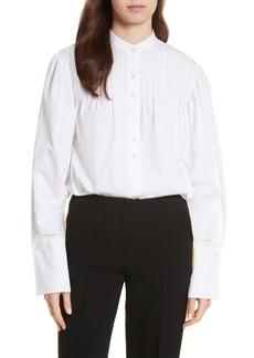Diane von Furstenberg Pintuck Cotton Blouse