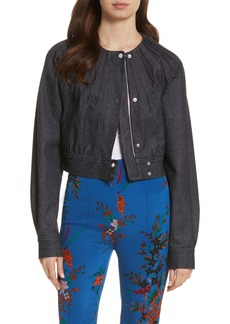 Diane von Furstenberg Pintuck Denim Jacket