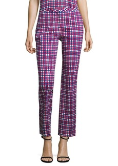 Diane von Furstenberg Plaid Cigarette Pants