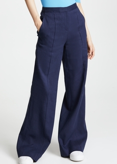 Diane von Furstenberg Pleat Front Flare Pants