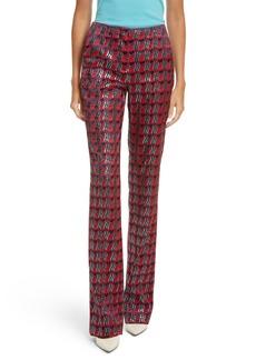 Diane von Furstenberg Pleat Front Jacquard Pants