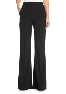 Diane von Furstenberg Pleat-Front Mid-Rise Flared-Leg Pants