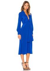 Diane von Furstenberg Plunge Knot Midi Dress