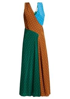 Diane Von Furstenberg Polka-dot print silk-crepe midi dress