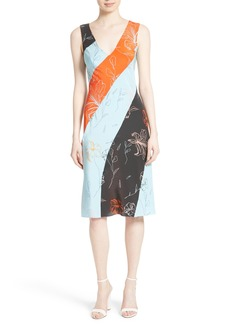 Diane von Furstenberg Print Silk Bias Cut Dress