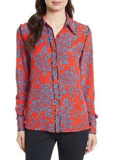 Diane von Furstenberg Print Silk Shirt