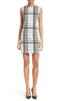 Diane von Furstenberg Print Stretch Cotton Sheath Dress