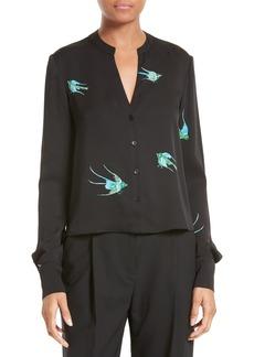 Diane von Furstenberg Print Stretch Silk Blouse