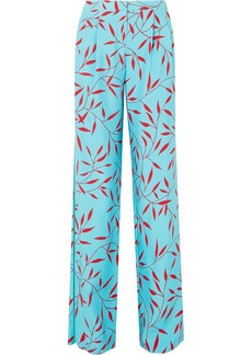 Diane Von Furstenberg Printed silk crepe de chine wide-leg pants