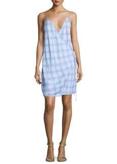 Diane von Furstenberg Printed Tie-Side Slip Dress
