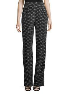 Diane von Furstenberg Printed Wide-Leg Silk Pants