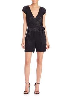 Diane von Furstenberg Purdette Embellished Short Jumpsuit