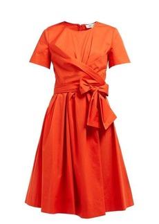 Diane Von Furstenberg Quinn tie-waist stretch cotton-poplin dress