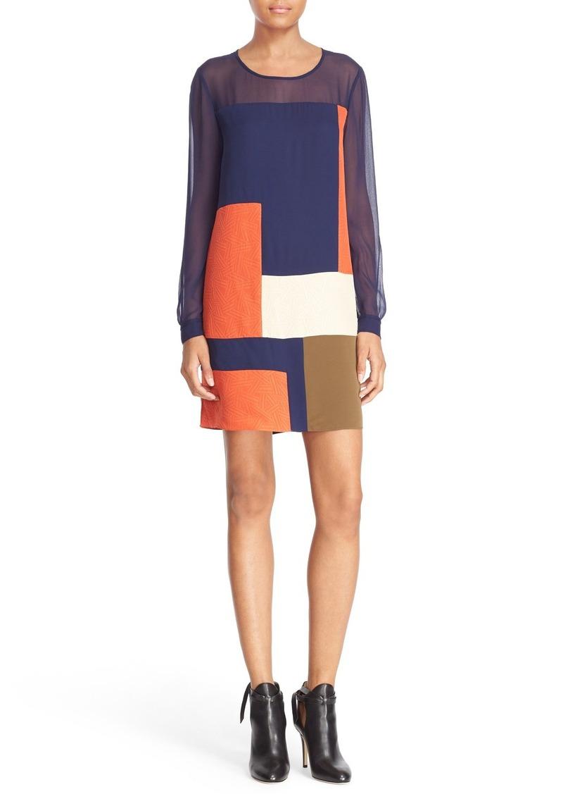 Diane von Furstenberg 'Raegan' Patchwork Silk Shift Dress