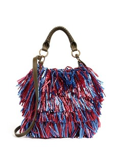 Diane von Furstenberg Raffia Fringe Cross Body Bag