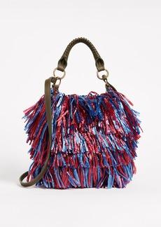 Diane von Furstenberg Raffia Fringe Cross Body Bag