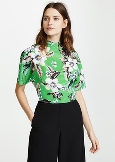 Diane von Furstenberg Raglan High Neck Blouse