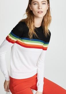 Diane von Furstenberg Rainbow Crew Neck Sweater